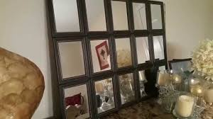 Pottery Barn Mirror Knock Off by As Seen On Pintrest Diy Contemporary Tilted Mirror Youtube