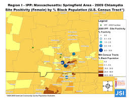 Springfield Massachusetts Map by Region I Infertility Prevention Project