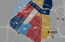 Downtown Los Angeles Map by Ford Factory Location