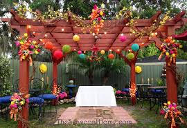 backyard decorations for anniversary home outdoor decoration