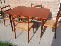 Dining Table Designs In Teak Wood With Glass Top Chair Teak Dining Table Chairs Set 1960s For Sale At Pam Teak