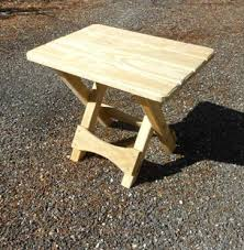 Building A Small End Table by How To Build A Folding Adirondack Table