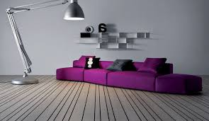 how to match a purple sofa to your living room décor