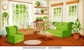 cozy livingroom vector cozy living room interior big stock vector 632432969