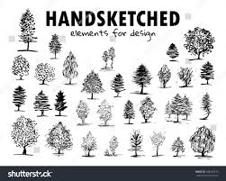 vector element design simple hand drawn stock vector 448429219