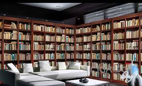 3d Bookshelf 3d Tall Bookshelf Books Display Wall Paper Mural Art Print Decals