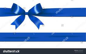 navy blue ribbon shiny navy blue ribbon bow stock vector 546452440