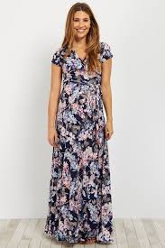 maxi dress with sleeves navy floral sleeve maxi dress