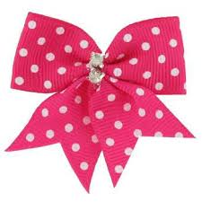 pink bows mini hot pink bows with polka dots rhinestones hobby lobby