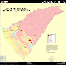 Wildfire Map Near Me by Cal Fire Calaveras County Fhsz Map