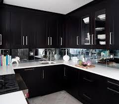Espresso Cabinets Kitchen Espresso Kitchen Cabinets With Mirrored Backsplash Contemporary