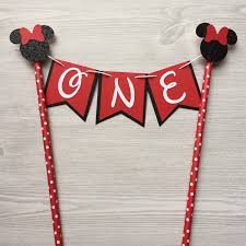 Black And Red Party Decorations Minnie Mouse Red And Black Cake Topper Banner Cake Topper