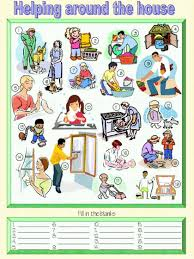Home Chores by Family Doing Household Chores Clipart 42