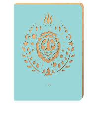 portico design leo zodiac blue a6 notebook notebooks notebooks