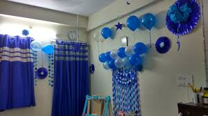 birthday decorations birthday decorations ideas at home blue theme decoration