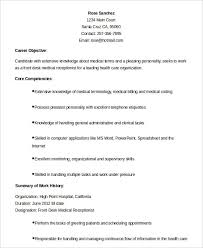 sample resume for medical secretary sample resume for medical