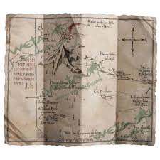 map hobbit the hobbit an journey thorin s map prop replica by