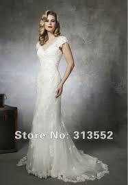 modest mermaid lace wedding dress with sheer raised neck cap