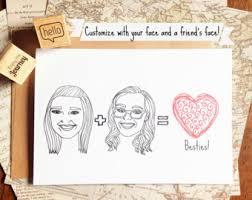 printable custom best friend card printable friend birthday
