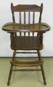 Antique Wooden High Chair Furniture Antique Price Guide