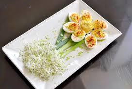 deviled egg serving plate 4 ways to make deviled egg flowers wikihow