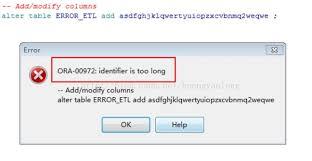 Alter Table Modify Column Oracle Oracle表名 欄位名等對象的命名長度限制 壹讀