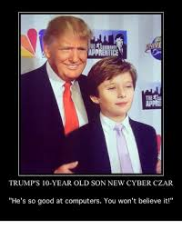 Good Meme Apps - celebrity apprentice app trump s 10 year old son new cyber czar