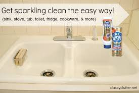 How To Clean A Bathtub With Comet Spring Cleaning My Secret Weapon For Cleaning Your Sink Toilet
