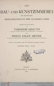 U Form K He Kaufen Krauth Theodor Hrsg Meyer Franz Sales Bernhard Hrsg Die