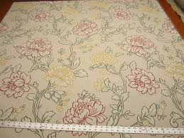 k0013d ivory embroidered striped floral brocade upholstery fabric