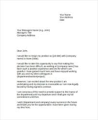 sample resignation letter 6 examples in word