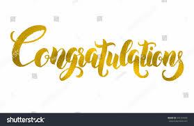 thanksgiving congratulations congratulations hand lettering modern brush calligraphy stock
