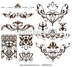 deco design elements vintage ornaments stock vector 599530661