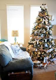 Blue And Silver Christmas Tree - silver gold and rustic christmas tree