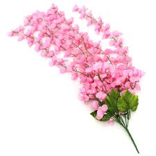 Silk Flower Plants - artificial flower hanging orchid plants leaves bunch plastic party