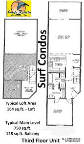 2 Bedroom Condo Floor Plans Surf Condos For Sale In Surf City Lewis Realty