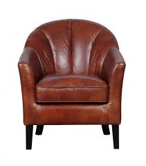 Faux Leather Accent Chair Gfa Park Land Chestnut Faux Leather Accent Chair