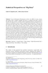 How Do I Write A Cover Letter For A Job by Statistical Perspectives On U201cbig Data U201d Springer