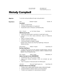 Rn Resume Templates Resume Template For Nursing Template