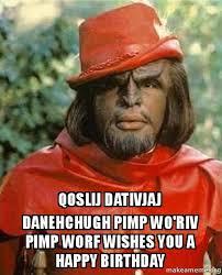 Pimp Meme - qoslij dativjaj danehchugh pimp wo riv pimp worf wishes you a happy