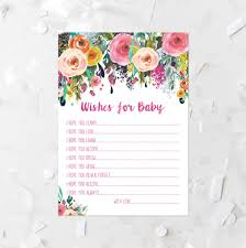 wishes for baby printable 5x7 baby shower game shower