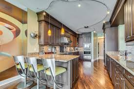 stylish contemporary kitchen design with u shaped kitchen island excellent track lighting pendant designs for your room lighting ideas extraordinary modern kitchen