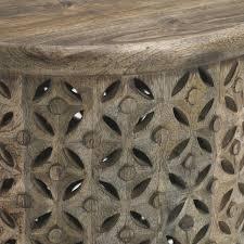carved wood side table west elm uk
