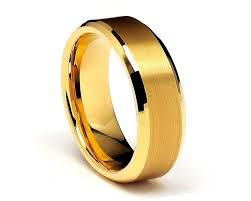 beveled ring gold beveled tungsten rings 8mm gold tungsten wedding rings