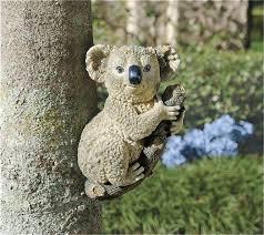 climbing koala resin garden ornament by design toscano 18 99
