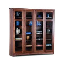 Cherry Bookcases With Glass Doors Wooden Bookcases With Glass Doors Bookcases Glass Doors Elm Wood