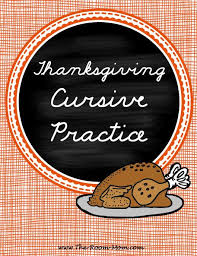 classroom freebies thanksgiving cursive handwriting