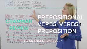 verb pattern hesitate prepositional verbs verbs preposition learn english with julia