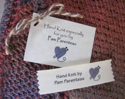 knitting labels etsy