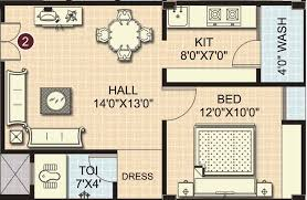 1 bhk floor plan overview sai srinivasam miyapur hyderabad residential